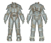 X-01 Power Armor with Mods (6 parts, 50lvl) - JetPack + Calibrated Shocks on both Legs