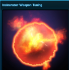 Incinerator weapon tuning US