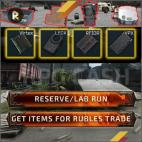 Reserve or Lab Run to get items for Rubles trade - no account share